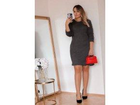 Šedé svetrové šaty (Veľkosť XXL)