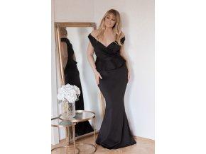 Dlouhé společenské peplum šaty (Veľkosť XL)