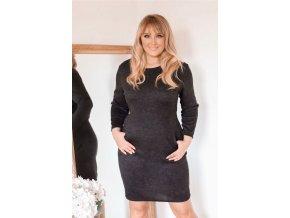 Černé šaty s kapsami (Veľkosť XXXXL)