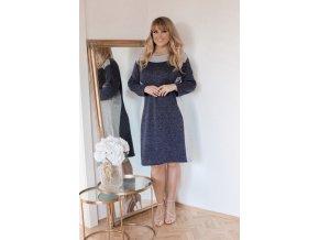 Ležérní modro-šedé šaty (Veľkosť XXXXL)