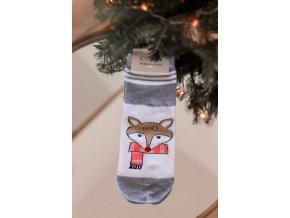 Dámské ponožky Fox - šedá (Veľkosť 39-42)