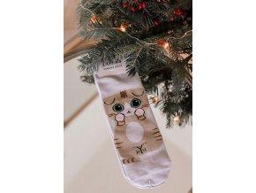 Dámské ponožky Kitty - béžová (Veľkosť 35-38)