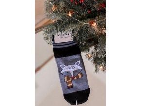 Dámské ponožky Fox - černá (Veľkosť 35-38)