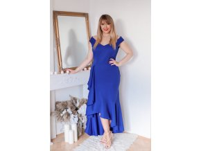 Plesové šaty v modré barvě (Veľkosť XL)