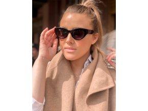 Černé sluneční brýle Claudia