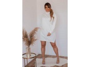 Bílé teplákové šaty (Veľkosť XL)