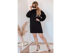 Černé teplákové šaty (Veľkosť XL)