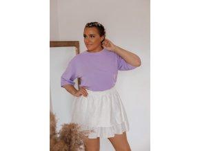Fialové oversize tričko s krátkým rukávem (Veľkosť XL)