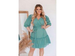 Tyrkysové zavinovací šaty (Veľkosť XL)
