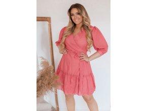 Korálové zavinovací šaty (Veľkosť XL)