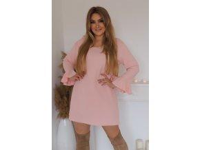 Prodloužená tunika v světle růžové (Veľkosť XL)