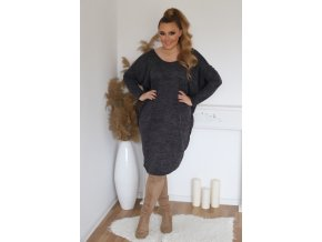 Dámské volné šaty v černé (Veľkosť XL/XXL)