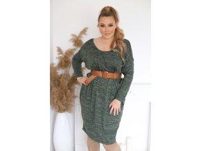 Dámské volné šaty v zelené (Veľkosť XL/XXL)