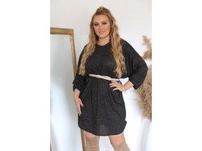 Volné černé šaty (Veľkosť XL/XXL)