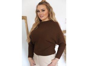 hnědý svetr (Veľkosť L/XL)