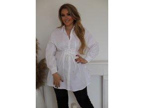 Bílá košile s dlouhým rukávem (Veľkosť L/XL)