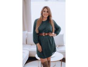Zelené volné třpytivé šaty (Veľkosť XL/XXL)