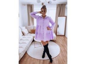 Bavlněná košile v světle fialové (Veľkosť L/XL)