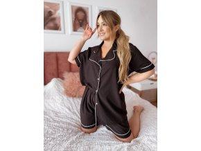 Dámské kraťasové pyžamo v černé (Veľkosť XL/XXL)