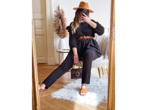 Černá souprava kalhot a topu (Veľkosť L/XL)