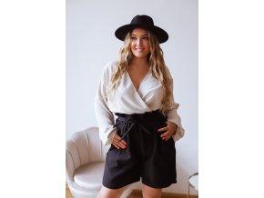Černé šortky s páskem (Veľkosť L/XL)