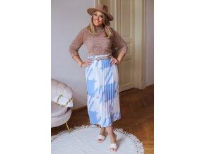 Modro-bílá plisovaná sukně (Veľkosť M/L)