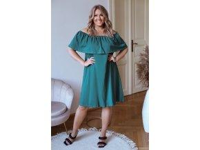 Zelené šaty s odhalenými rameny (Veľkosť XXXXL)