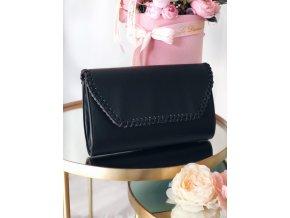 Listová kabelka v černé barvě