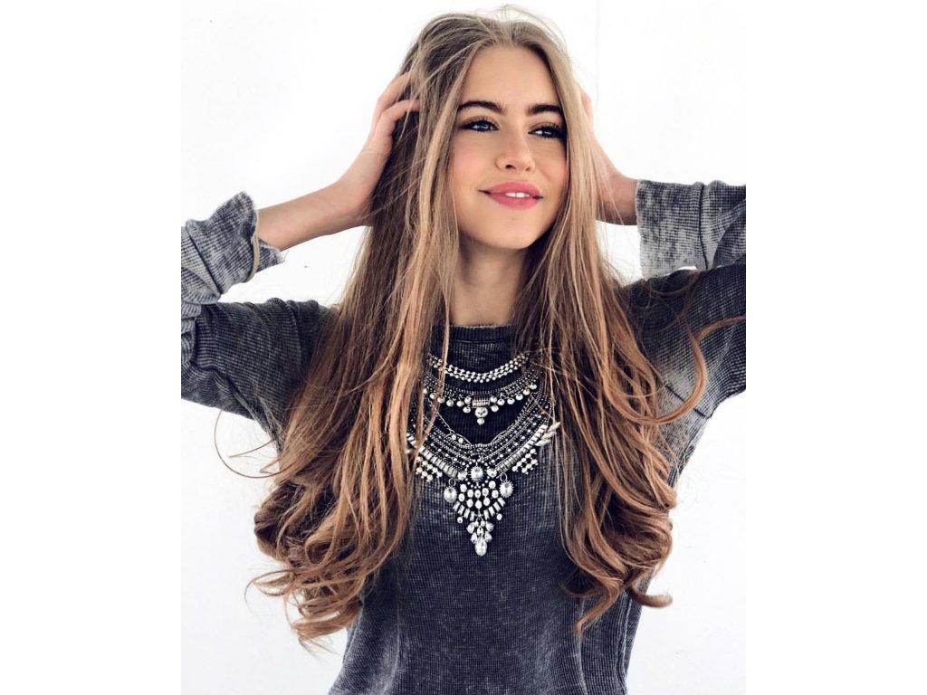 aadeae5d3 Masívny náhrdelník Chiara v striebornej farbe | ZAZZA
