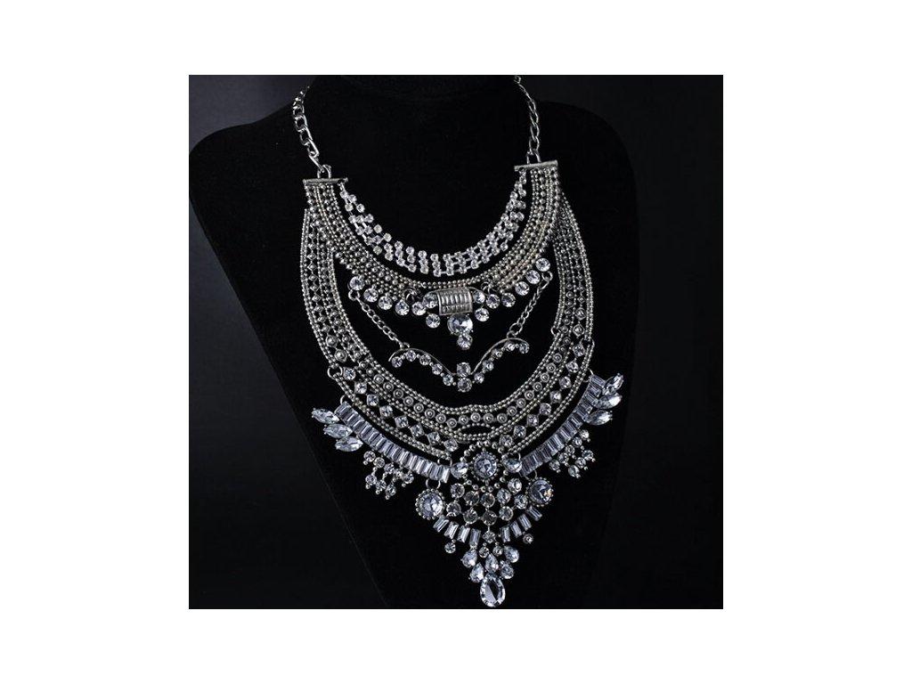 7b085f837 Masívny náhrdelník Chiara v striebornej farbe Masívny náhrdelník Chiara v striebornej  farbe ...