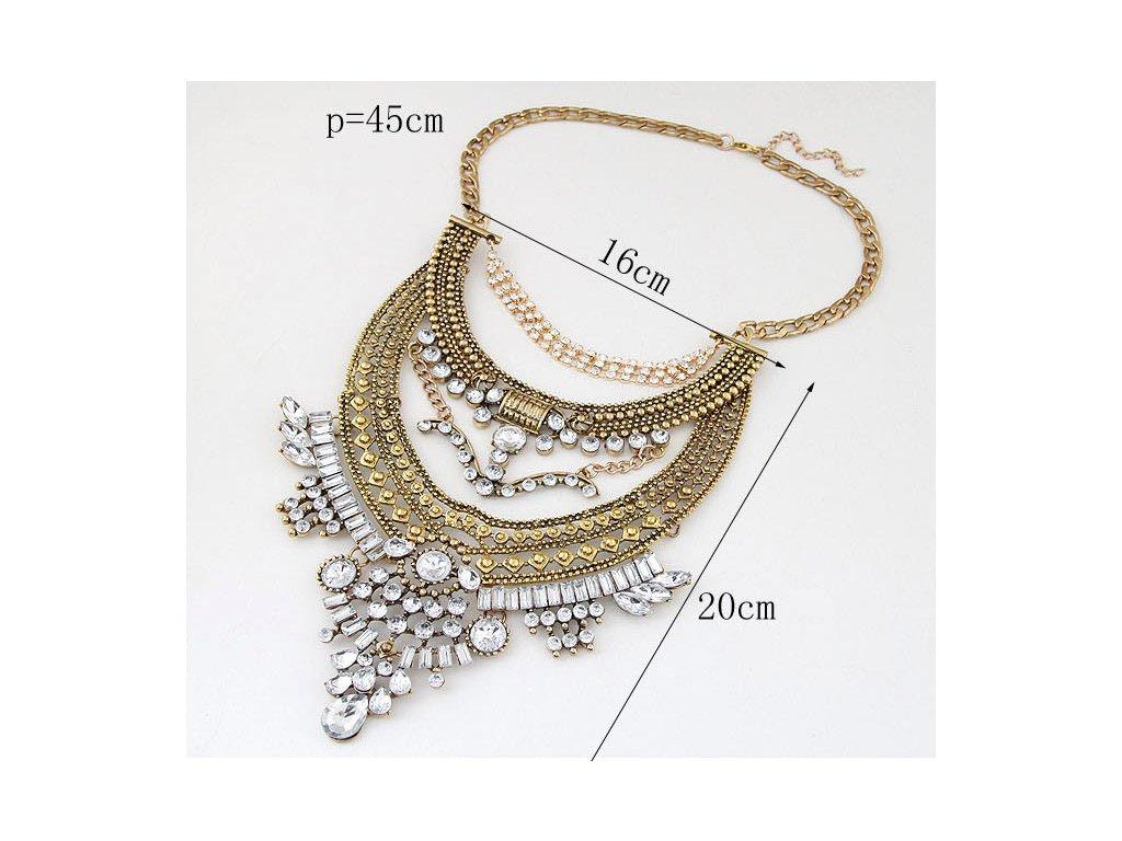 d55b853cf ... Masívny náhrdelník Chiara v striebornej farbe ...