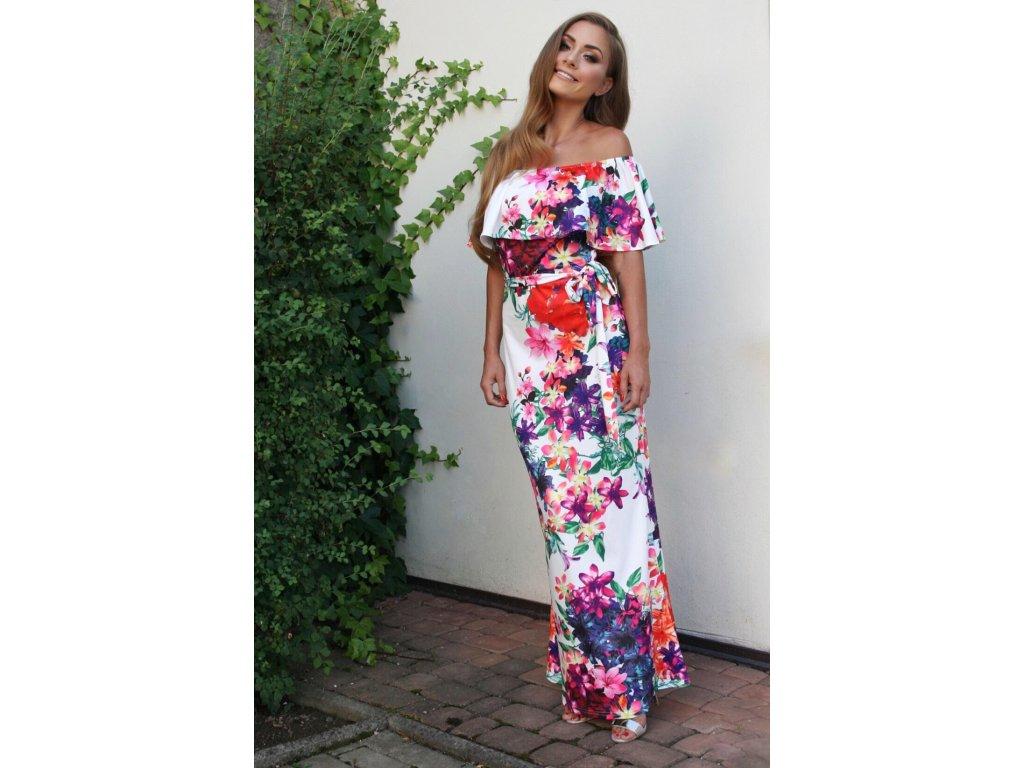 4cab67d08029 Dlhé farebné kvetinové šaty ...