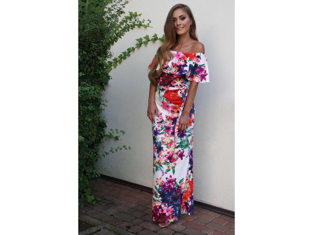 f12f9945697b Dlhé farebné kvetinové šaty Dlhé farebné kvetinové šaty ...