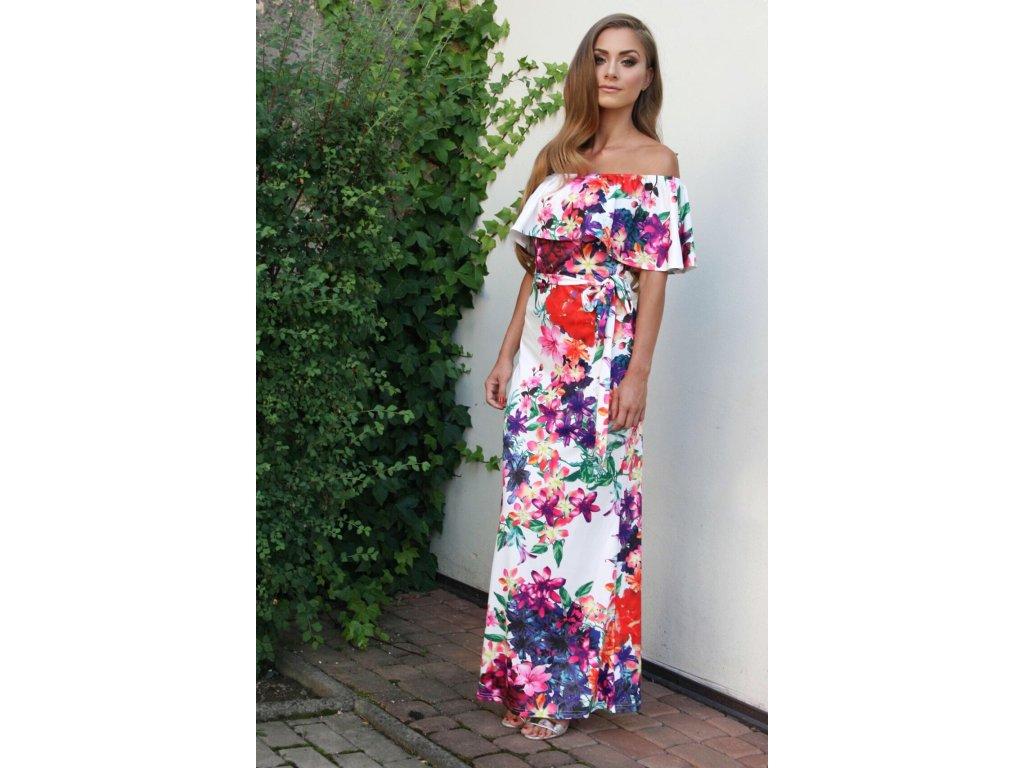 Dlhé farebné kvetinové šaty  80272a974e4