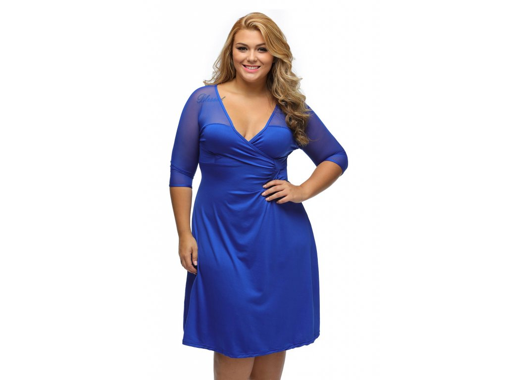 5f5c62f934d1 Royal Blue Plus Size Sugar and Spice Dress LC60671 5 1