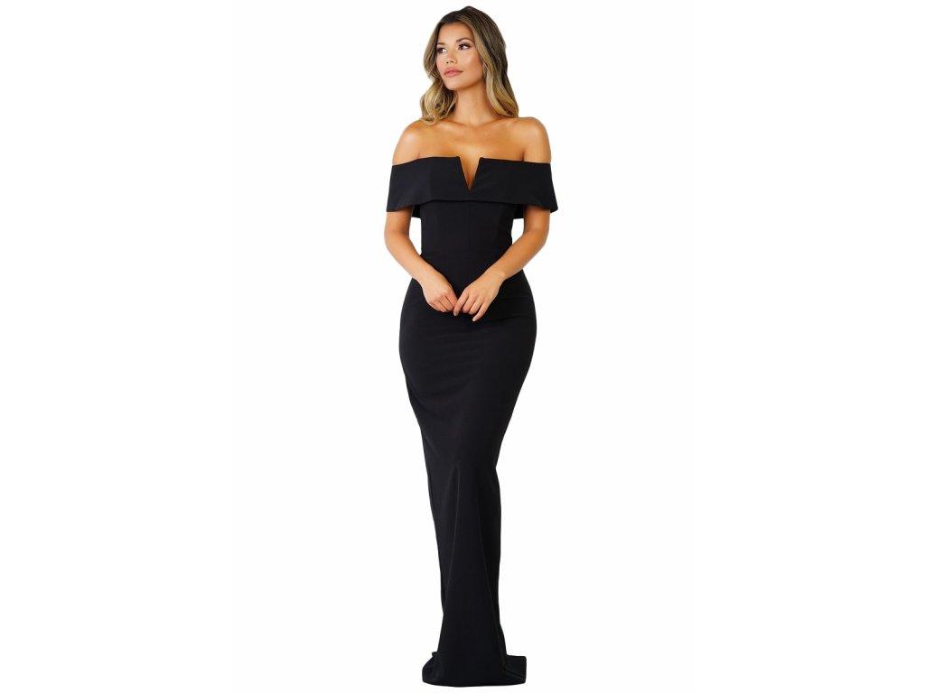 Dlhé spoločenské šaty v čiernej  661234f85af