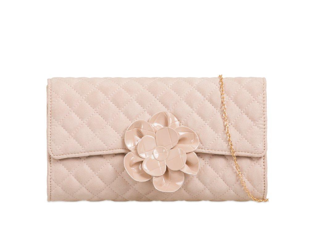 Béžová kabelka s kvetinou  54fae30a05f