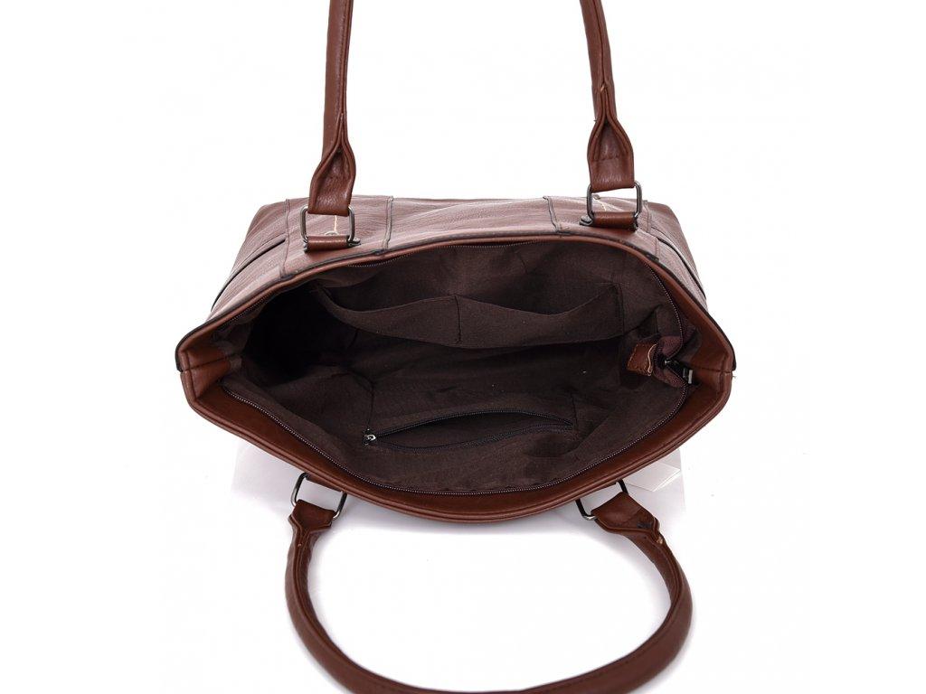 Tmavo-hnedá kabelka na rameno Tmavo-hnedá kabelka na rameno 2a0a28be0de