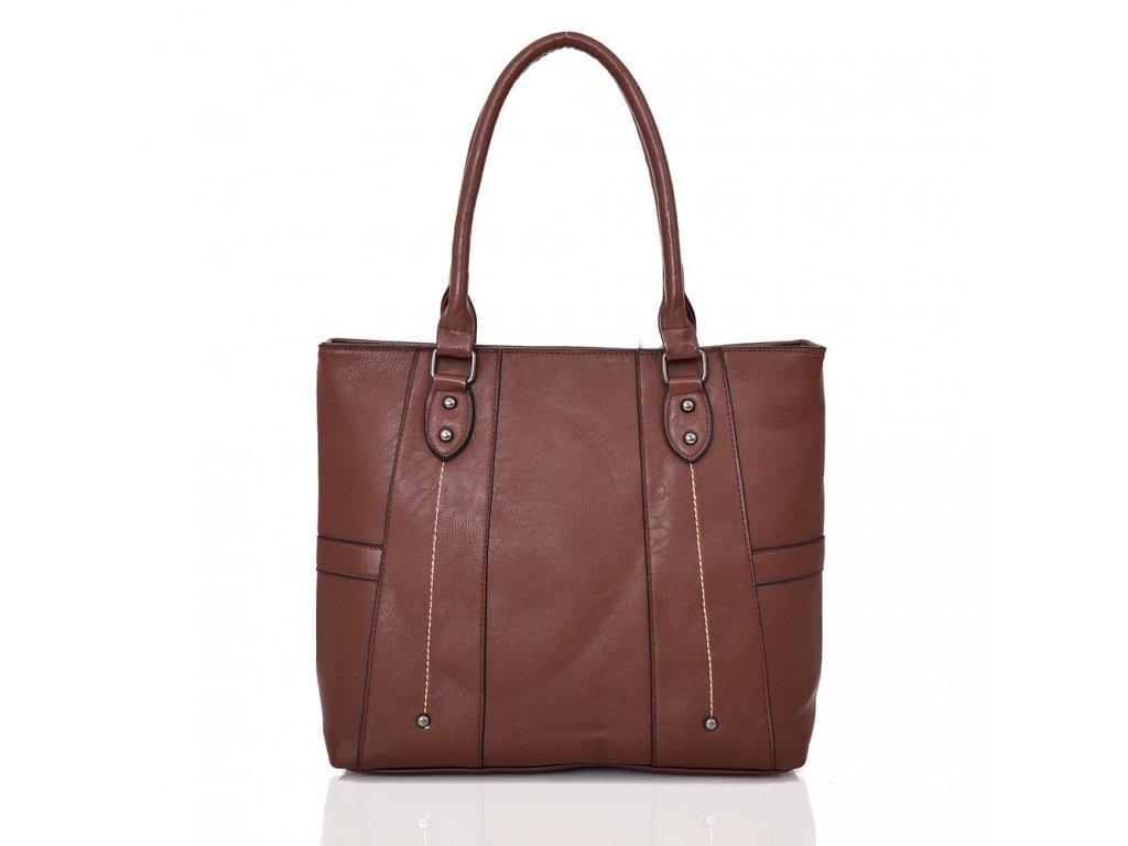 Tmavo-hnedá kabelka na rameno  2ec20d63094