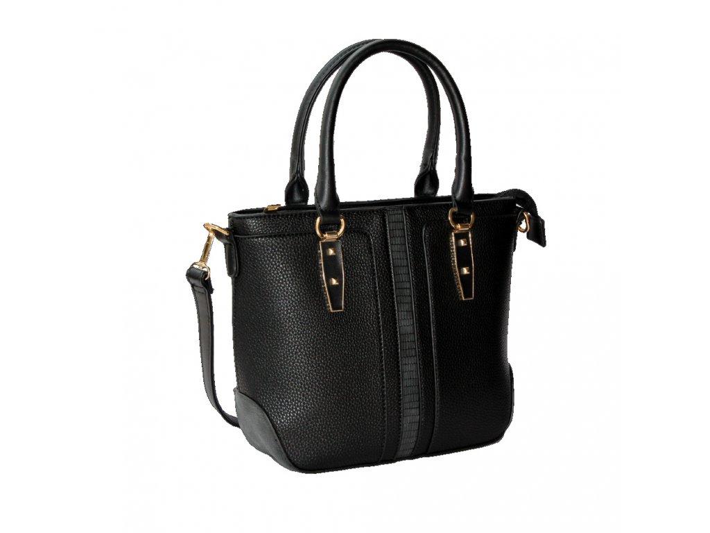 Elegantná čierna kabelka so zlatými detailmi ... 981f7dac785