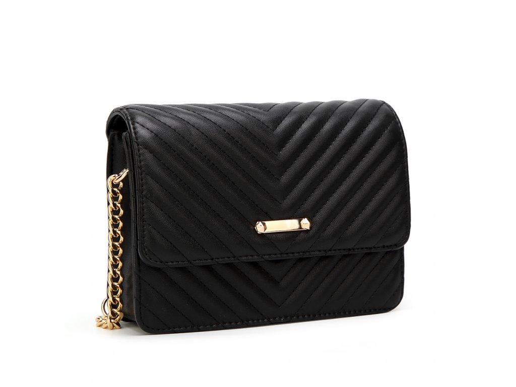 Čierna crossbody kabelka s jemným vzorom ... 03331de666e