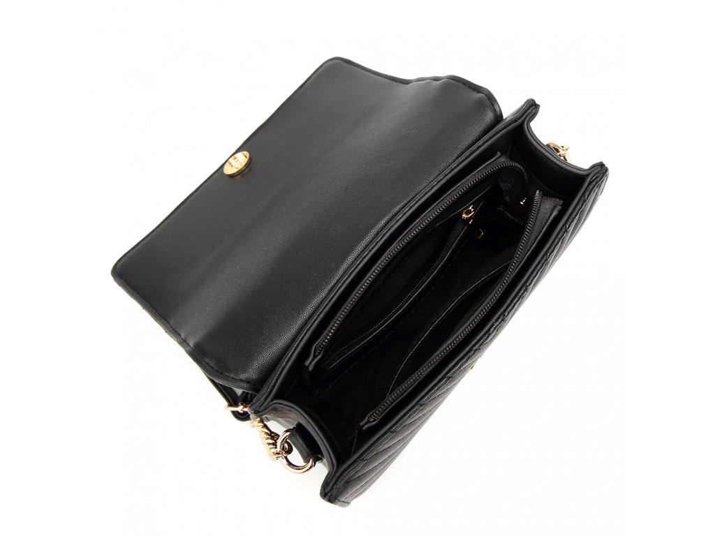 Čierna crossbody kabelka s jemným vzorom Čierna crossbody kabelka s jemným  vzorom ... 28e34160dc8