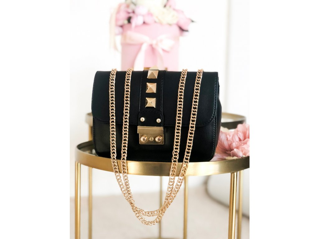 7dcc5fff7c Čierno-zlatá kabelka Chloe