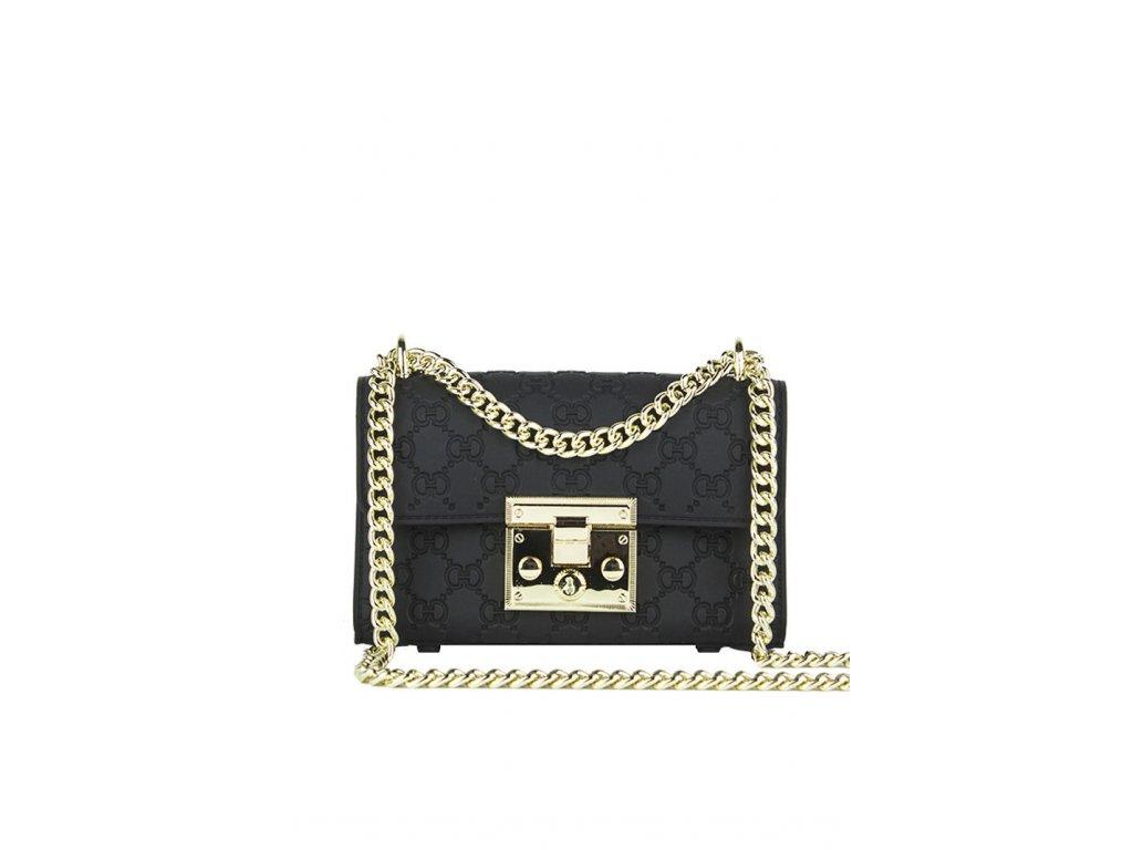 3395b04a2247 Štýlová kabelka v čierno-zlatej