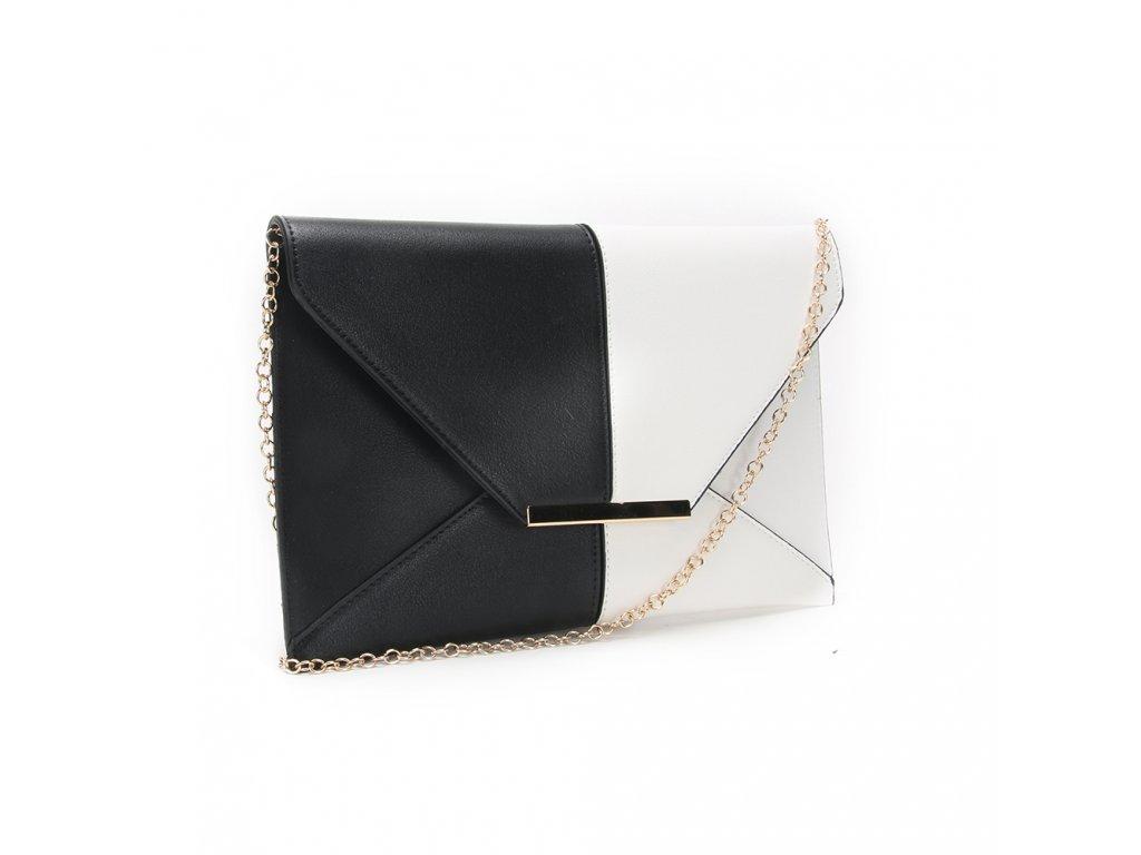 5ac1025cb27b Čierno biela listová kabelka 2 ...