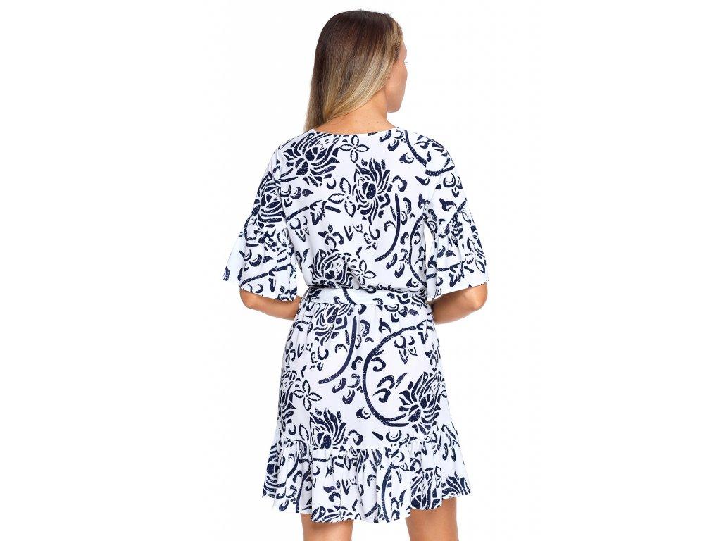 8ebba6897589 ... Bielo-modré šaty s kvetinovým vzoromBielo-modré šaty s kvetinovým vzorom  ...