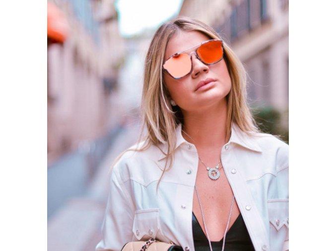 Dámske okuliare Alexis v oranžovej