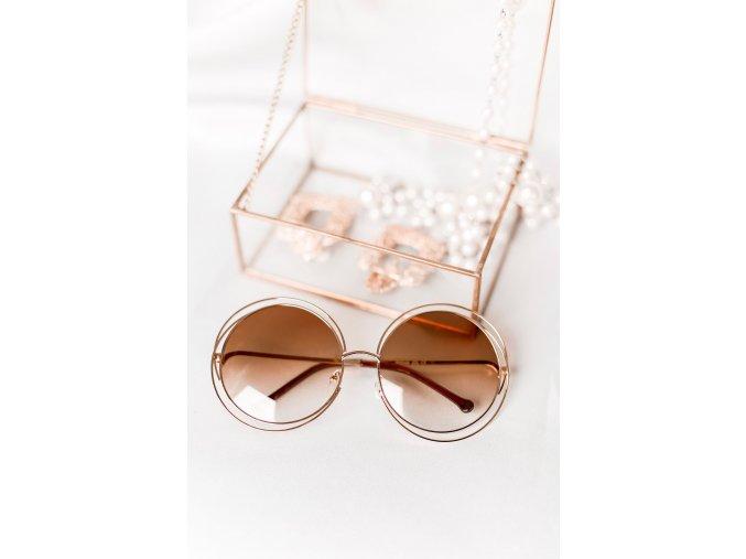 Okuliare Tiffany v zlatej farbe