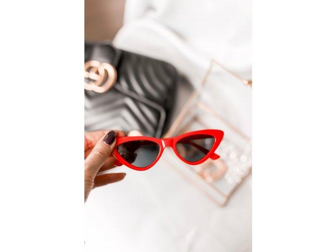 Červené cateye okuliare Ally