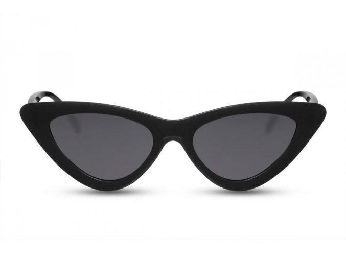 Čierne cateye okuliare Ally